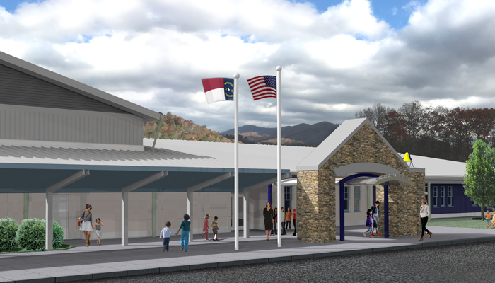 Architectural Design Studio Asheville. Blue Ridge Elementary Architectural Design Studio  School